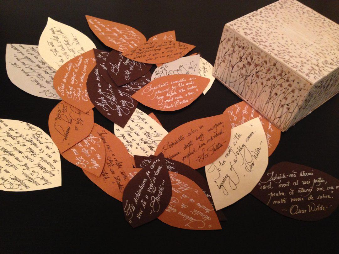 Calligraphy box - Monica Cirstea