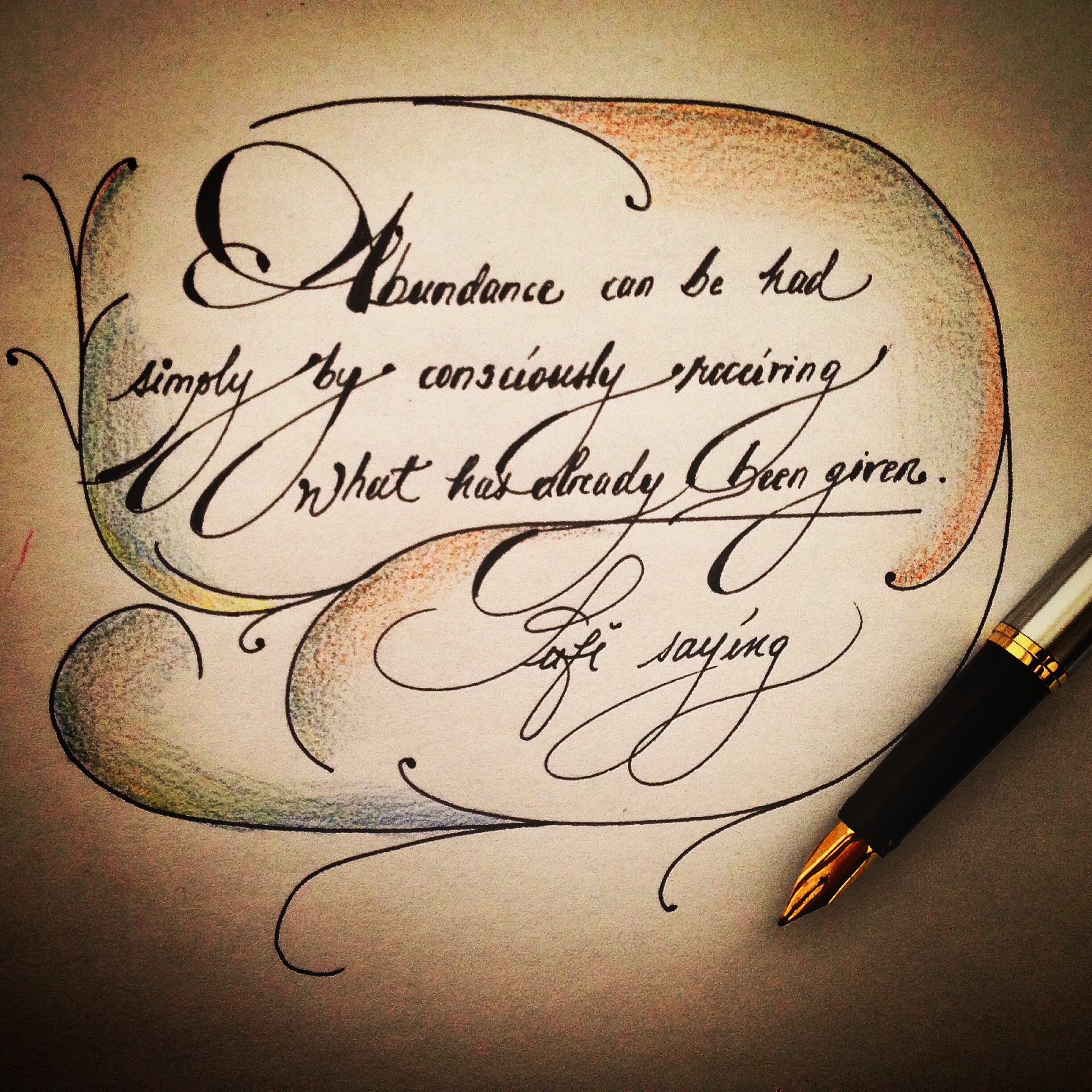 Calligraphic quotes