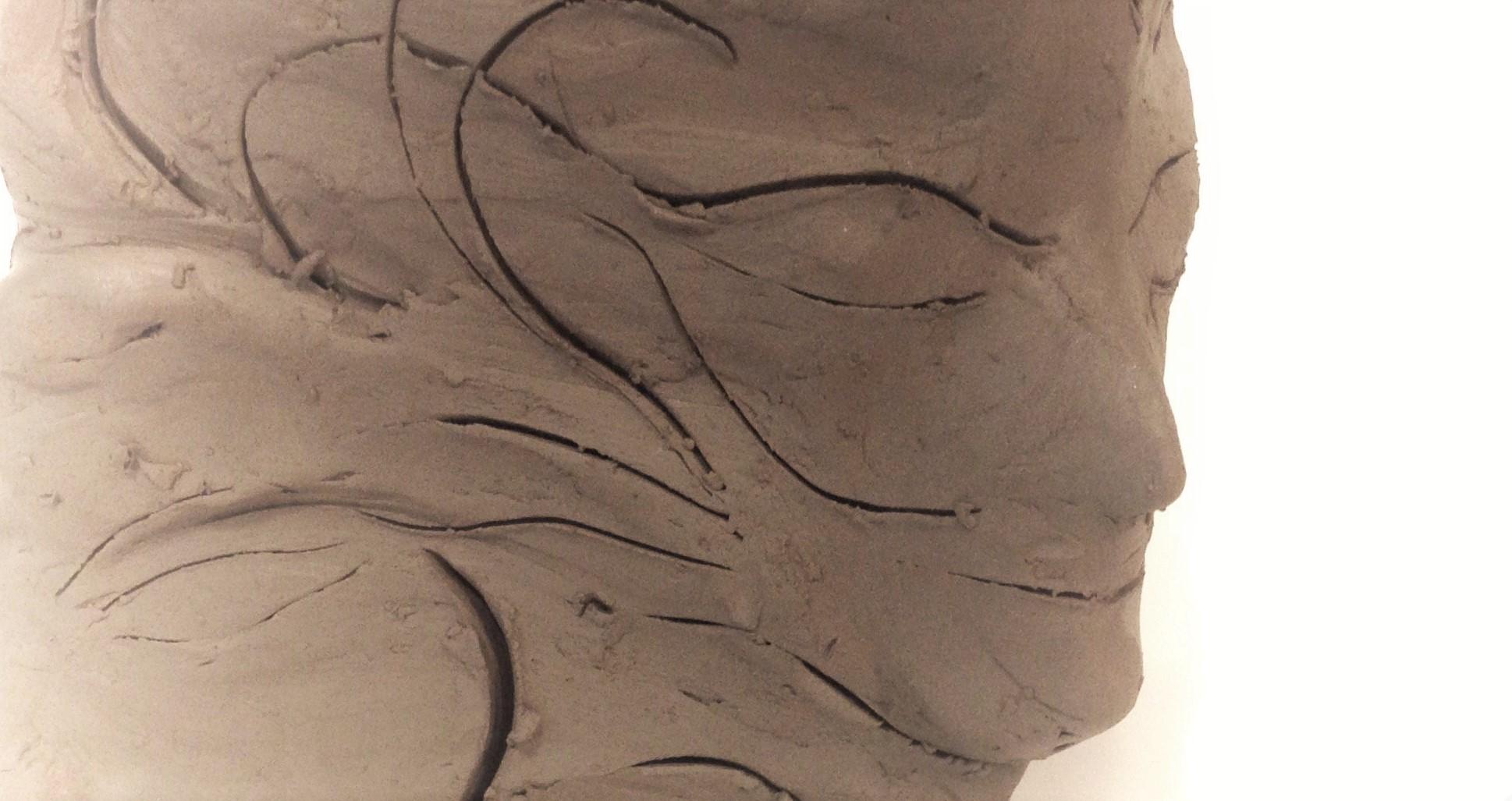 Meditation – clay sculpture