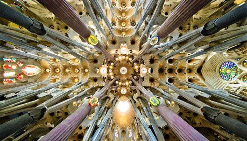 Antoni Gaudi Sagrada Familia nave roof detail