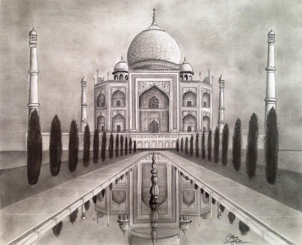 Taj Mahal drawing