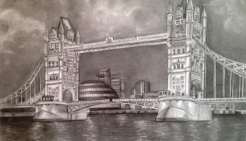 Tower Bridge drawing