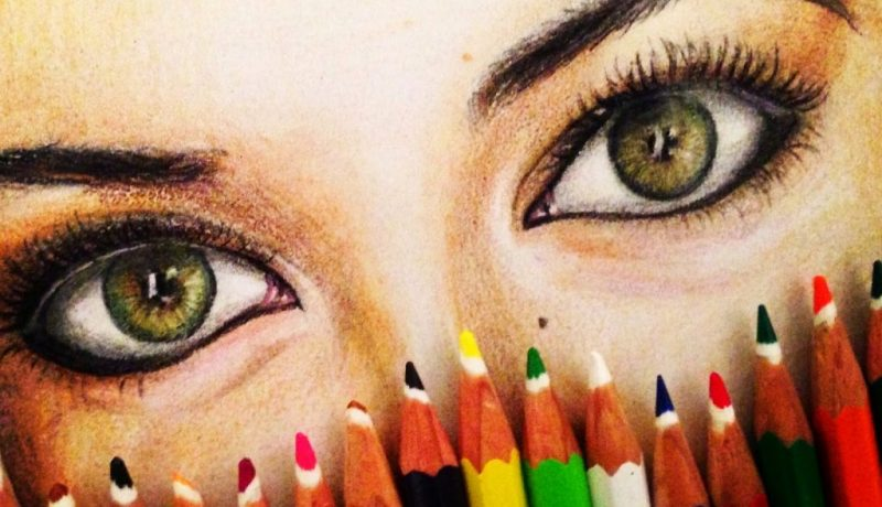 Green eyes drawing