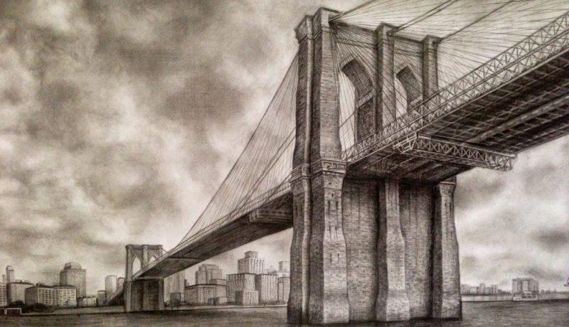 Brooklyn Bridge drawing (1)