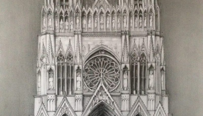 Reims Cathedral drawing