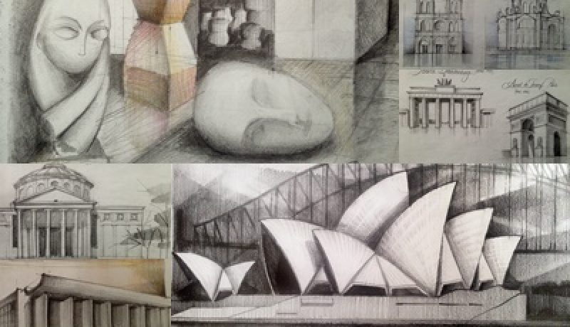 Sketching architectural monuments