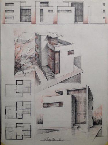 Plansa casa prisma