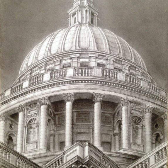 St Paul's Cathedral - drawing by Monica Cirstea