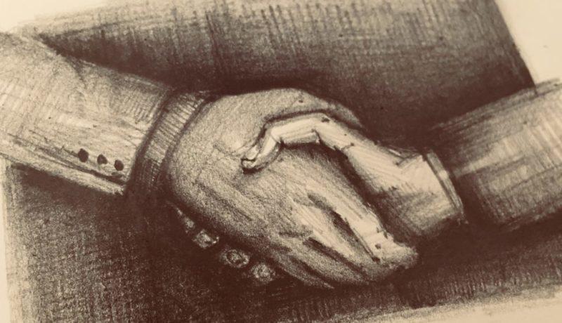 Handshake drawing