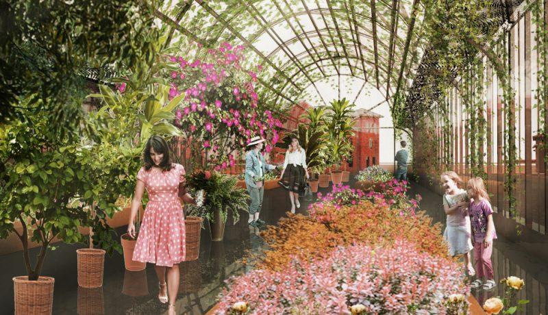 Piata de Flori George Cosbuc - Randare interior sera