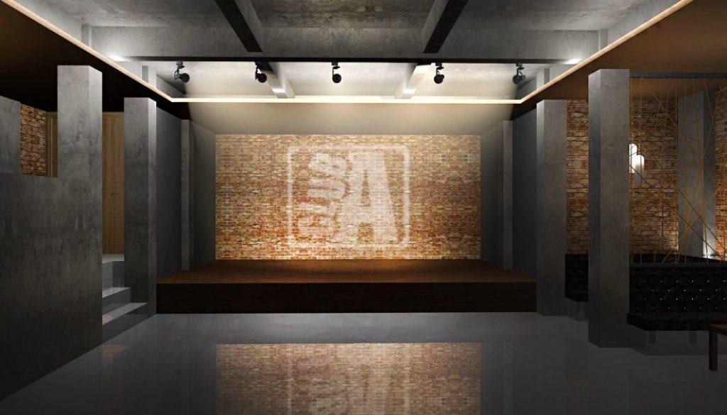 Club A - Propunere amenajare sala de dans scena